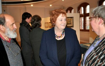 Dame Rosemary visits the exhibition
