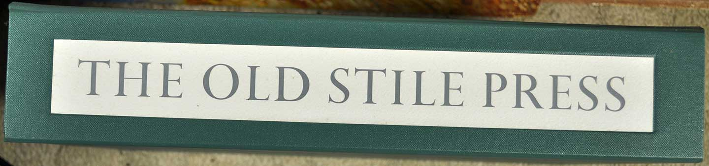 Old Stile Press book spine